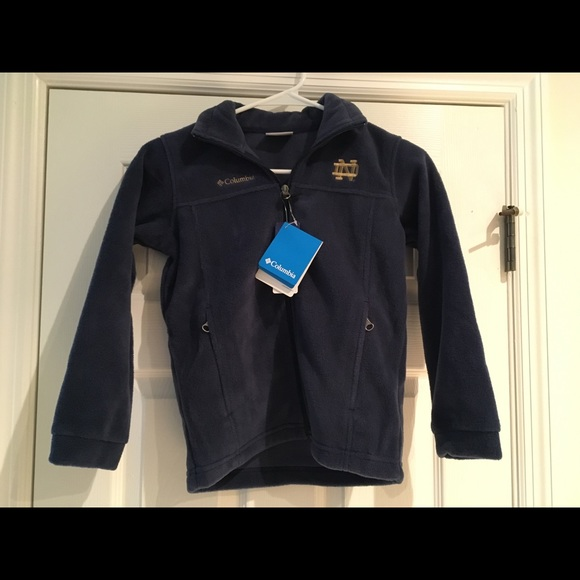 Columbia Ole Miss Zip Up Youth Flanker Jacket Kids Small Size 8